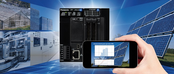 Panasonic analyzuje data výroby prostřednictvím PLC