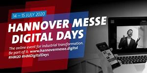 Premiéra HANNOVER MESSE Digital Days ve dnech 14. a 15. července 2020