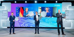 Plně propojená, řízená umělou inteligencí: Bosch otevírá v Drážďanech továrnu na čipy budoucnosti